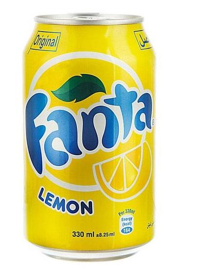 نوشابه قوطی فانتا لیمویی