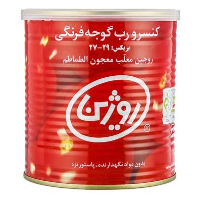 رب گوجه قوطی کلیدار 800 گرمی روژین