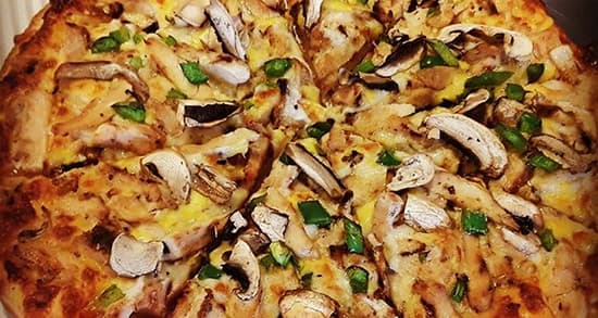 مرغ با قارچ و پنیر