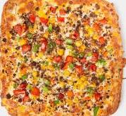 پیتزا مرغ و قارچ متوسط