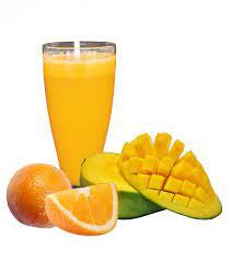 آب انبه و پرتقال