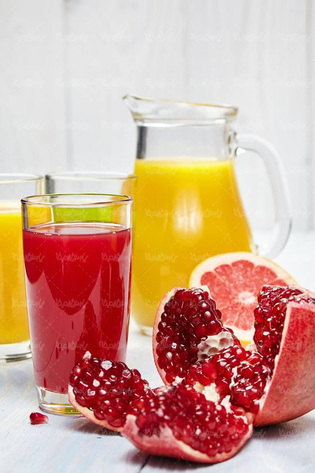 آب انار پرتقال