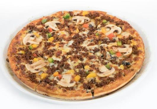 پیتزا قارچ و گوشت 2نفره
