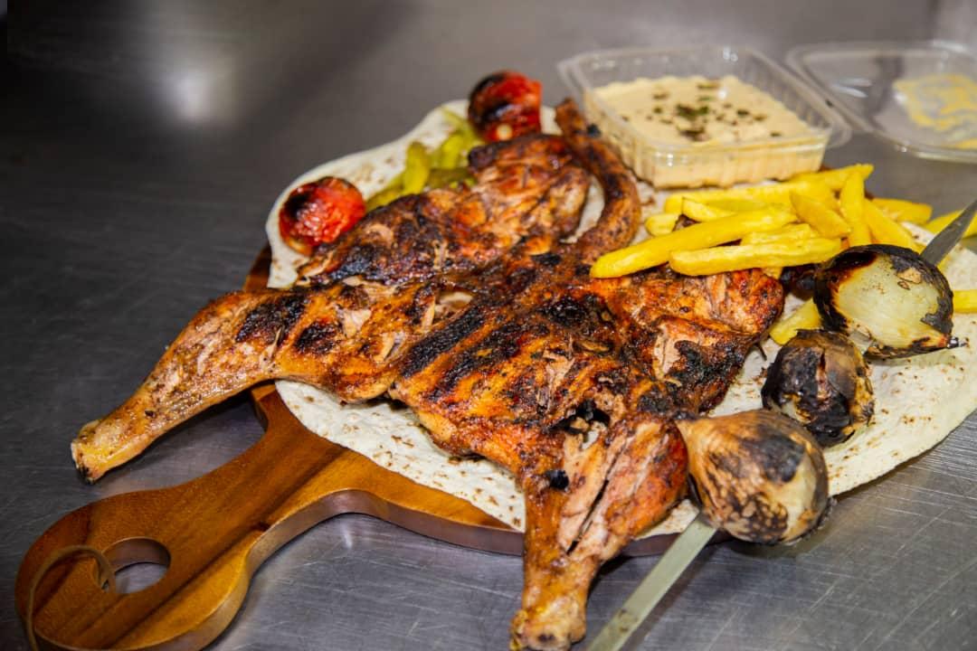 مرغ ذغالی لبنانی