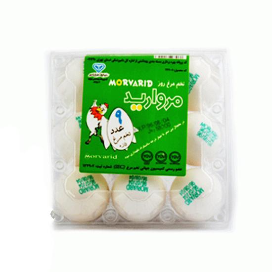 تخم مرغ سفید پک 9 عددی مروارید