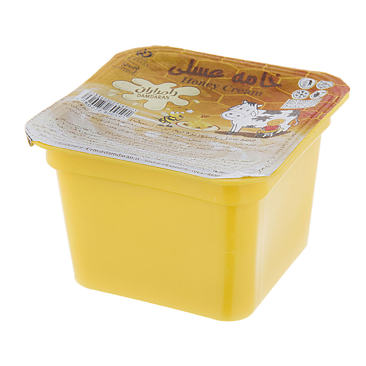 خامه پاستوریزه عسلی ظرف پلی استایرنی 100 گرمی دامداران
