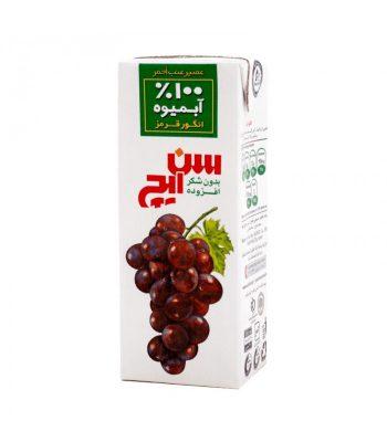 آبمیوه انگور قرمز 200 میلیلیتری سن ایچ