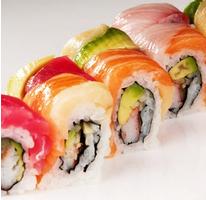 سوشی رینبو رول (هشت تکه)