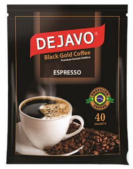 پودر قهوه فوری اسپرسو  بسته 40 عددی دژاوو