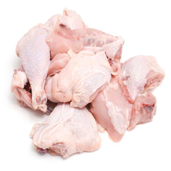 مرغ خورد شده(1.5کیلوگرم) فاقد هر گونه ضایعاتی