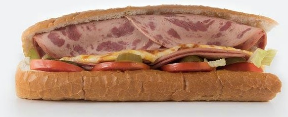 ساندویچ ژامبون گوشت تنوری