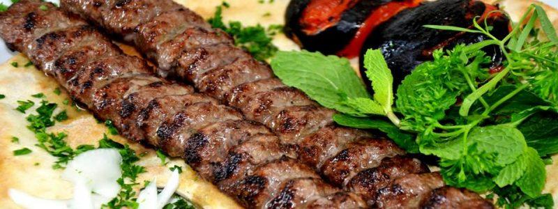خوراک کباب کوبیده گلپایگانی