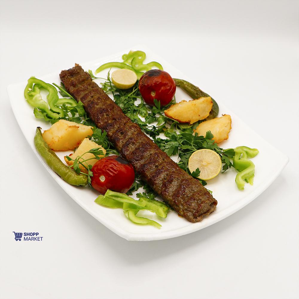 خوراک کباب لقمه زعفرانی