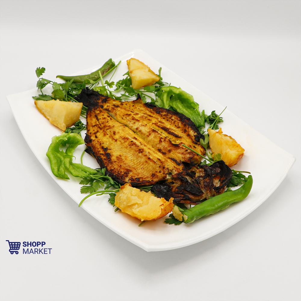 خوراک ماهی قزل آلا (کبابی)