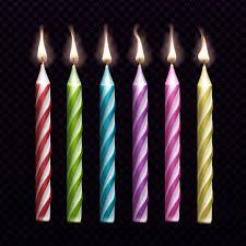 شمع تولد رنگی ریز