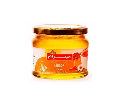 عسل شیشه ای 450 گرمی مهرام