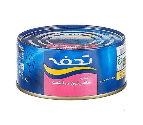 کنسرو ماهی تن در آب نمک 180 گرمی تحفه