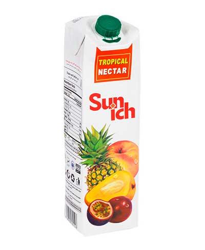 نکتار میوه های گرمسیری 1 لیتری سن ایچ