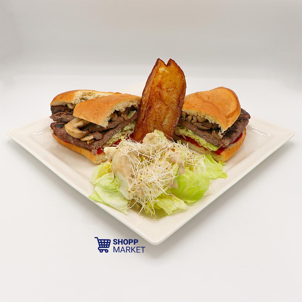 ساندویچ مخصوص استیک و گوشت