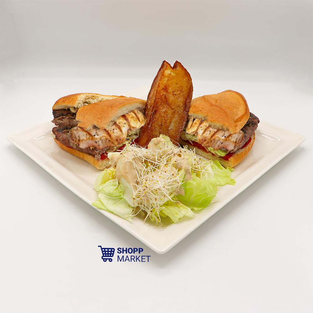 ساندویچ مخصوص مرغ و گوشت