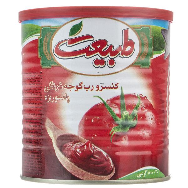 رب گوجه فرنگی قوطی فلزی 800 گرمی طبیعت