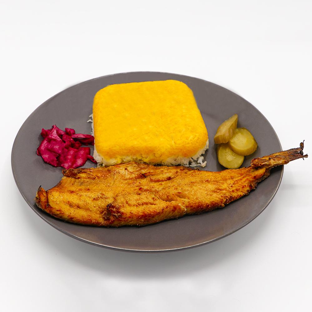 کته ماهی قزل آلا سرخ شده