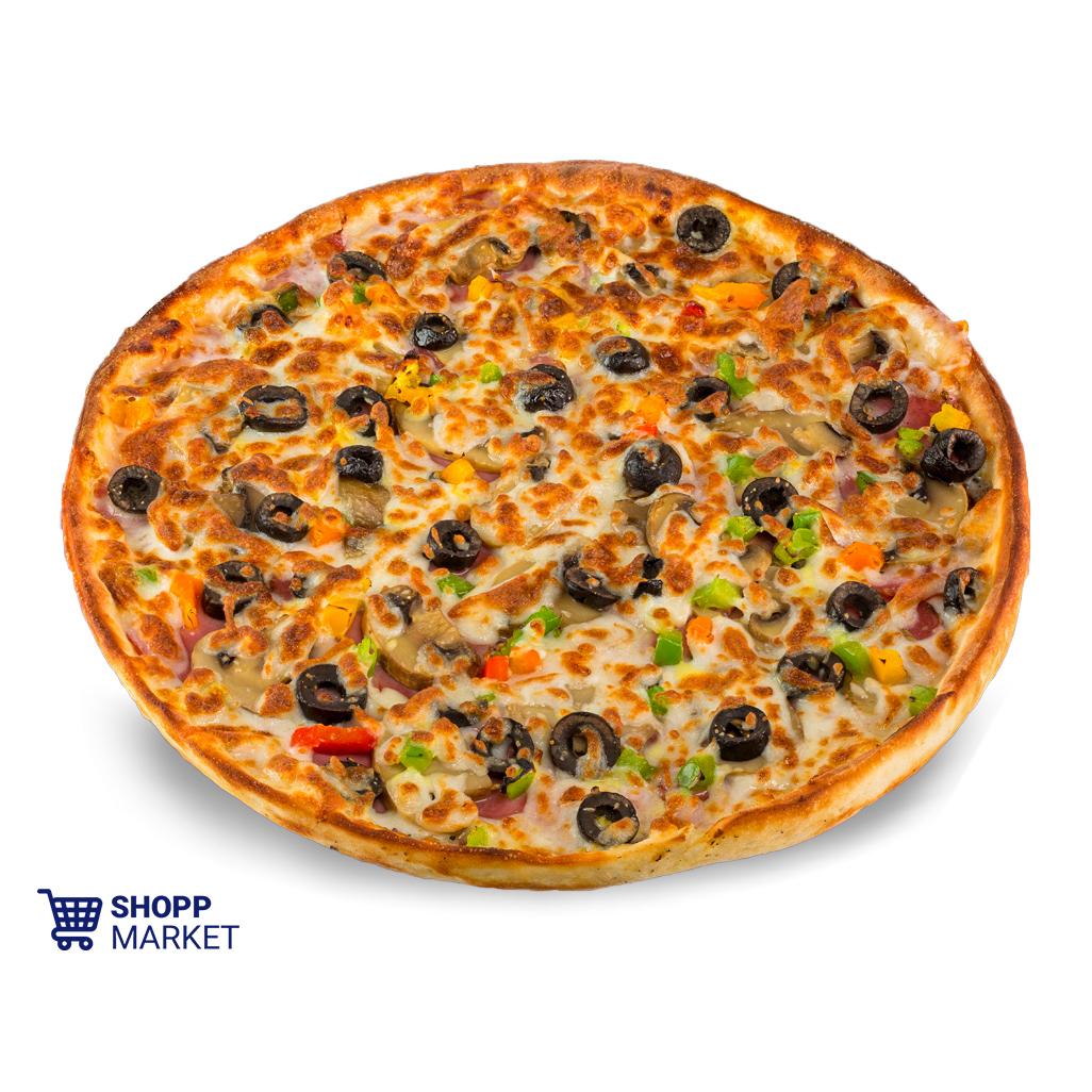پیتزا سیر و بیکن متوسط