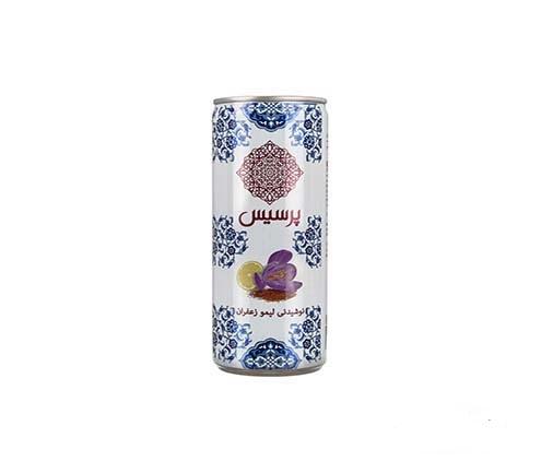 نوشیدنی لیمو زعفران قوطی