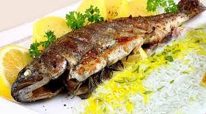 چلو ماهی قزل کبابی