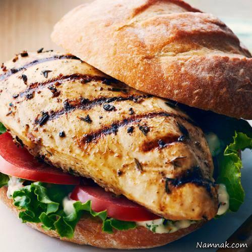 ساندویچ مرغ کبابی