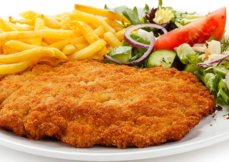 خوراک شنیسل مرغ