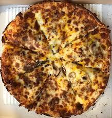 پیتزا گوشت و قارچ + سیب زمینی