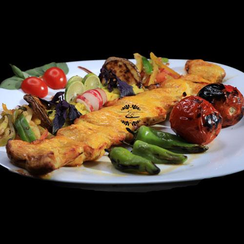 خوراک جوجه کباب زعفرانی