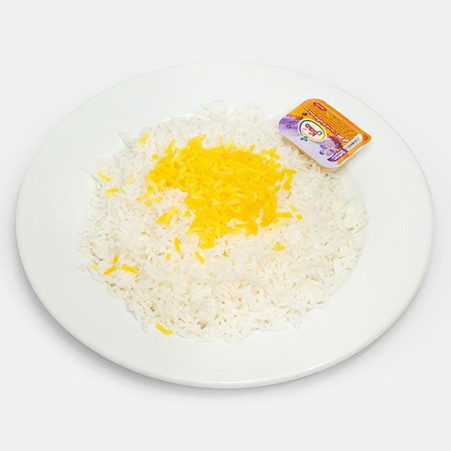 برنج زعفرانی با کره