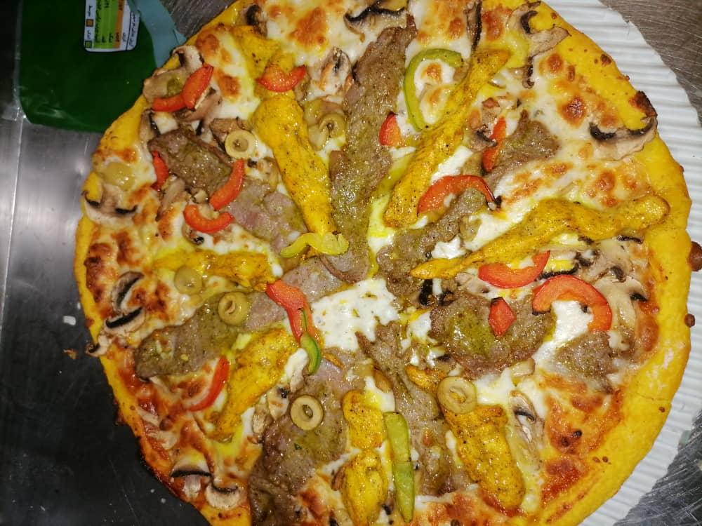 پیتزا باربیکیو + سیب زمینی