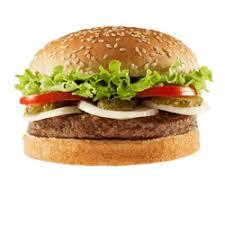 همبرگر ذغالی